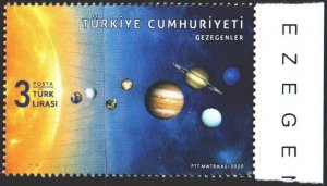Turkey. 2020. The planets of the solar system. MNH.