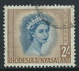 Rhodesia & Nyasaland SG 11  Used light crease on reverse ...