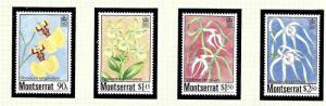 Montserrat 554-57 MNH 1985 Orchids