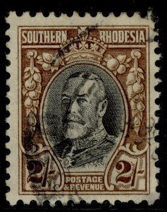 SOUTHERN RHODESIA GV SG25a, 2s black & brown, USED. Cat £32. PERF 11½