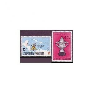 St Kitts-Nevis 322-323,323a,MNH.Michel 315-316,Bl.6. World Cricket Cup,1976.Map.