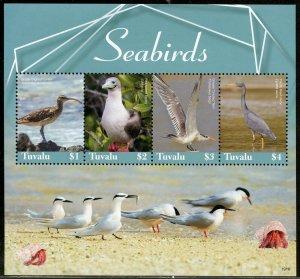 TUVALU 2019 SEABIRDS SHEET MINT NH