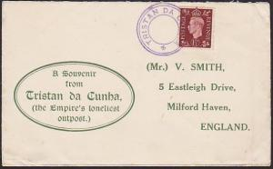 TRISTAN DA CUNHA GVI GB 1½d on cover with undated cancel in violet.........67571