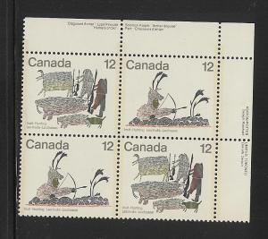 Canada MNH Plate Block Unitrade.#  751a