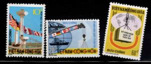 South Vietnam Scott 484-486 MNH** 1974 AID stamp
