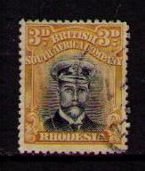 RHODESIA BSA Sc# 124 USED F Royal King George V 3p