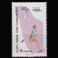 TURKISH-CYPRUS 1989 - Scott# 246 Europa-Kite 1000l NH