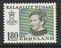 1978 Greenland - Sc 97 - 1 single - MNH VF - Queen Margrethe