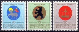 Liechtenstein. 1970. 533-35. Coats of arms. MNH.