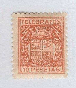 Spain 10p Telegraph MNH Gum Fiscal Revenue stamp - 12-26-