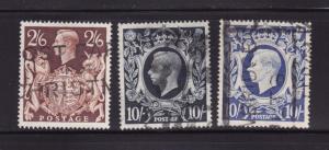Great Britain 249, 251-251A U King George VI (A)