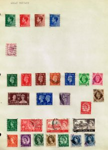 UK STAMP GREAT BRITAIN STAMPS COLLECTION LOT  #1