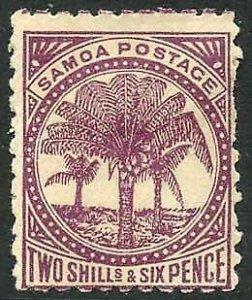 Samoa SG64 6d Wmk upright fine used M/M Cat 55 pounds