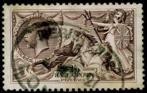 SG414, 2s 6d chocolate-brown, USED. Cat £75.