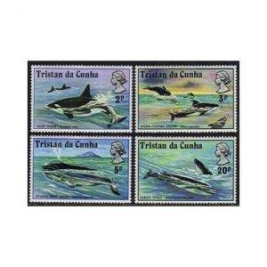 Tristan da Cunha 202-205,MNH.Michel 202-205. Killer,Right whale,Dolphin,