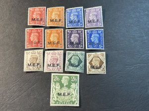 GREAT BRITAIN/BOA/M.E.F. # 1-13-MINT/HINGED*--2 COMPLETE SETS--1942-43