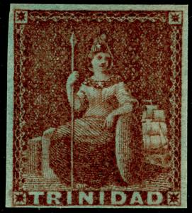 TRINIDAD AND TOBAGO SG7, 1d brownish-red, LH MINT. Cat £300.