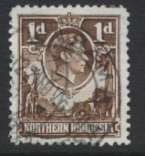 Northern Rhodesia  SG 27a SC# 27a Used choclate shade - see details