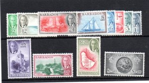 Barbados 1950 set of 12 unmounted mint