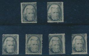 #73 2c 1863 BLACKJACK F-VF (2) UNUSED (4) MINT OG SELECTION CV $1,800 AU1071