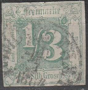 Thurn & Taxis #16 F-VF  Used CV $250.00 (A16116)