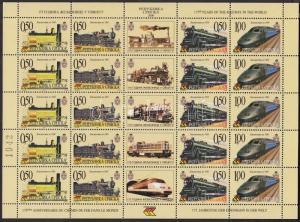 Bosnia-Herzegovina-Serbian Republic stamp Locomotives minisheet 2000 WS189676