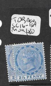 TOBAGO  (PP2709B) QV 2 1/2D  SG16-16A  MOG