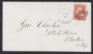 US Sc 94 on Cover, Masonic Compass & Square Fancy Cancel