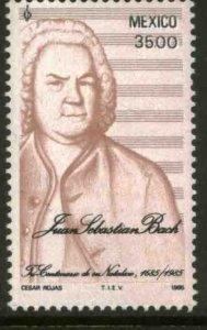 MEXICO 1377, 300th Anniv Birth of Johann Sebastian Bach MINT, NH. VF.