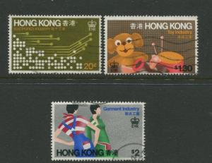 Hong Kong - Scott 351-353 - General Issue - 1979 - FU - Set of 3 Stamps