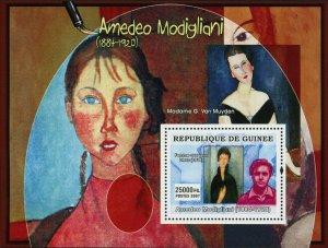 Amedeo Modigliani Stamp Art Painter Madame G. Van Muyden S/S MNH #4885 / Bl.1279