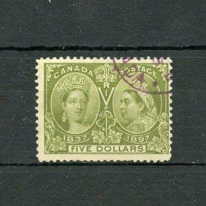 CANADA $5 JUBILEE  SCOTT#65   USED