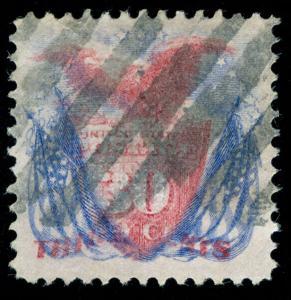 momen: US Stamps #121 USED PSE GRADED CERT VF-XF 85