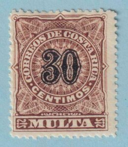 COSTA RICA J6 POSTAGE DUE  MINT HINGED OG * NO FAULTS EXTRA FINE !