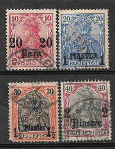 COLLECTION LOT #723 GERMANY OFFICES IN TURKEY  4 STAMPS 1903+CV+$39
