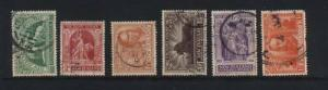 New Zealand #165 - #170 VF Used Set