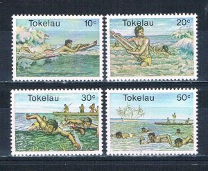 Tokelau 73-76 MNH set Canoe racing 1980 (HV0279)