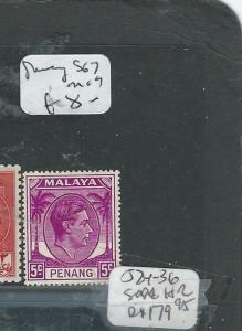 MALAYA PENANG (PP0710B) KGVI 5C   SG 7   MOG