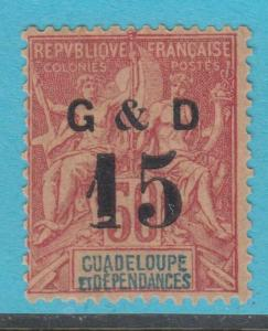 GUADELOUPE 47 MINT HINGED OG *  NO FAULTS  VERY FINE !