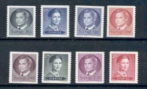 Sweden Sc 1366-73 1981-4 King & Queen coil stamp set mint NH