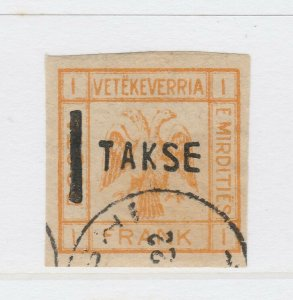 A3P18F36 Albania unissued stamp 25q on 1fr mint no gum
