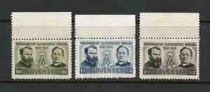 Slovakia - Sc# 62 - 64 MNH     -     Lot 0821334