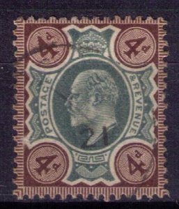Great Britain Scott #133 greyl/brown/org used  (Sg238) KEVII-F-VF