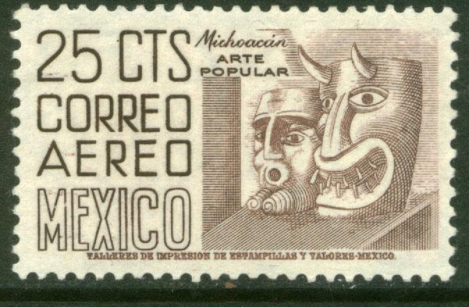 MEXICO C220A, 25¢ 1950 Definitive 2nd Printing wmk 300 MINT, NH. F-VF.