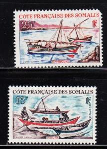 Somali Coast - #302 & 303  Houri -set/2 - MNH