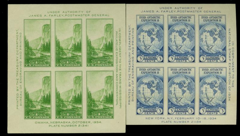 756-65 MINT Center Line Blocks VF Cat$151
