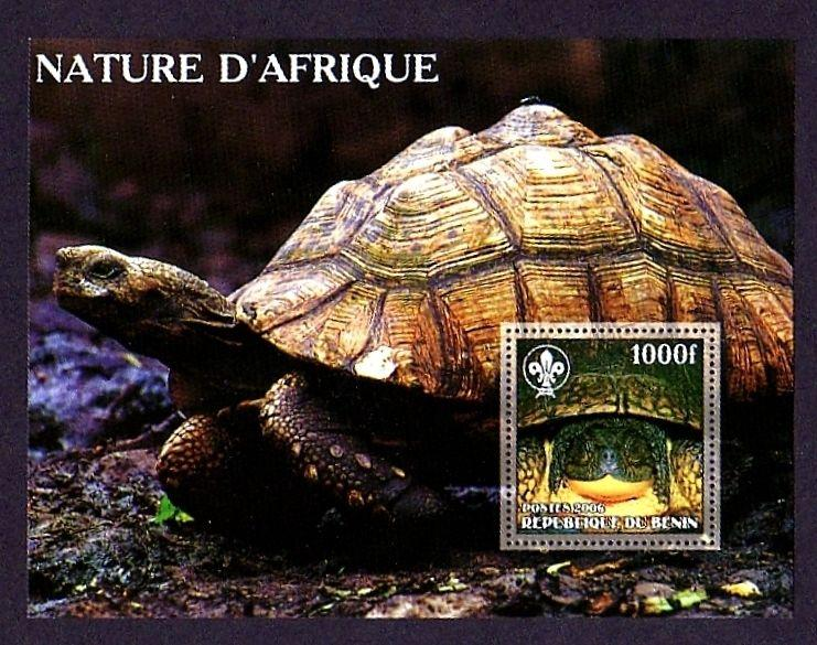 BENIN - 2006 - TURTLE - AFRICAN SPURRED TORTOISE - MINT - MNH PERF S/SHEET!