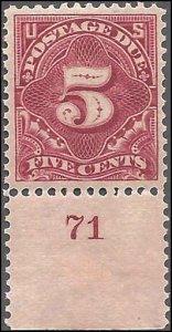 J41 Mint,OG,XLH... SCV $110.00.   Plate# single... Beauty