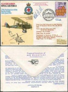 RAF12d No.18 Squadron RAF Pilot and Crewman Signed