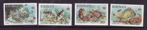 Kiribati-Sc#452-5-Unused NH set-Reef Fish-Marine Life-1985-